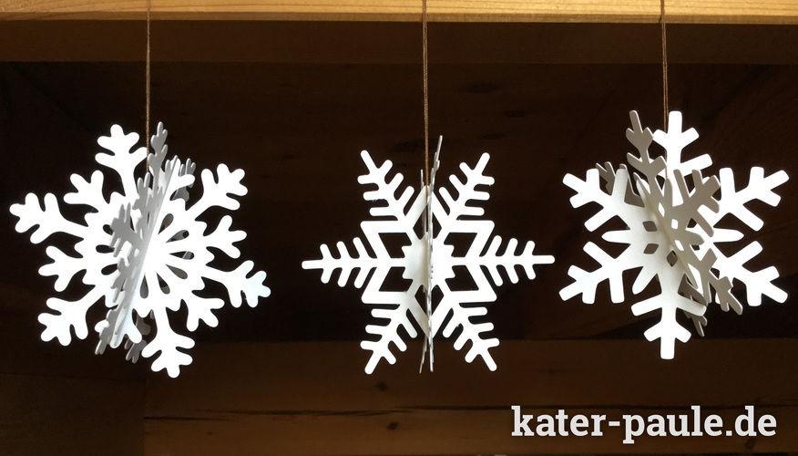 Makerist - Schneeflocken Deko - geplottet aus SnapPap - DIY-Projekte - 1