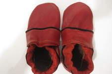Makerist - die Krabbelschuhe aus rotem Flohmarkt-Leder - 1