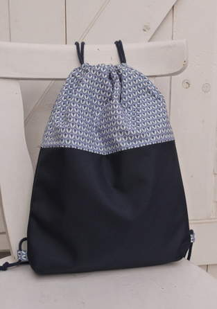 Makerist - Turnbeutel,Rucksack in blau - 1