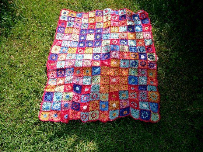 Makerist - Granny-Decke - Häkelprojekte - 1