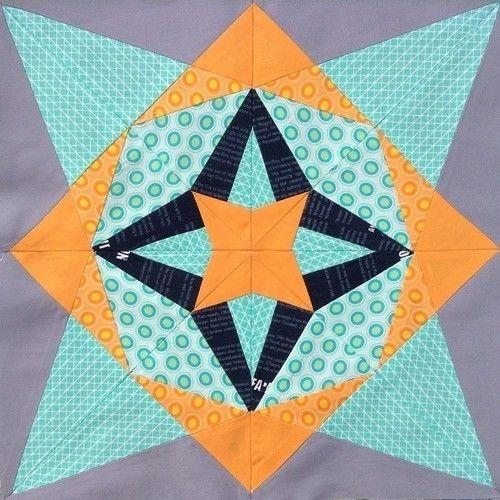 Makerist - Kaleido Nova Block - Vorlage zum Nähen auf Papier - Patchwork-Projekte - 3