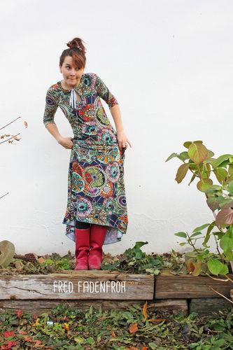 "Makerist - bodenlanges Kleid ""Herbstgold"" - Nähprojekte - 1"