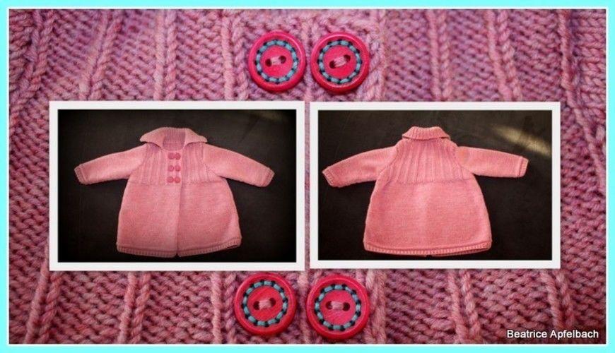 Makerist - kuschelige Babyjacke in Gr. 74 - Strickprojekte - 1