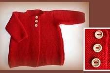 Makerist - kuschelige Babyjacke in Gr. 74 aus Babyalpaka - 1