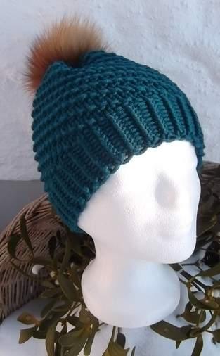 gestrickt aus Lanartus Fine Merino Hat