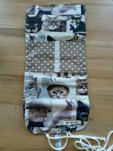 Makerist - Kulturtasche mit Katzen - Nähprojekte - 3
