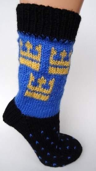 Makerist - Socken mit schwedischem Kronenmotiv - 1