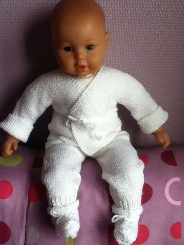 Makerist - ensemble bebe couleur blanc - Créations de tricot - 1