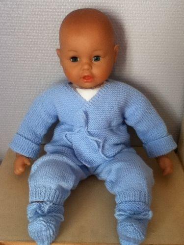 Makerist - ensemble bebe couleur bleu ciel  - Créations de tricot - 1
