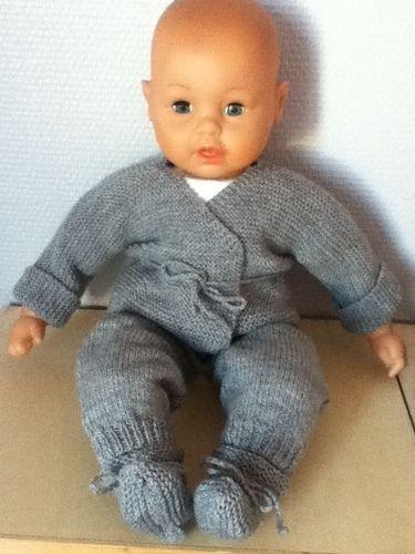 Makerist - ensemble bebe couleur flanelle - Créations de tricot - 1