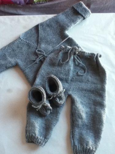 Makerist - ensemble bebe couleur flanelle - Créations de tricot - 2