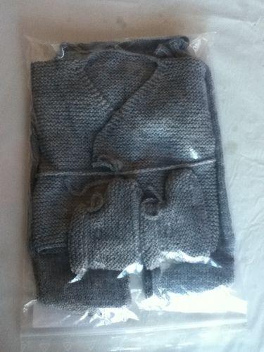 Makerist - ensemble bebe couleur flanelle - Créations de tricot - 3