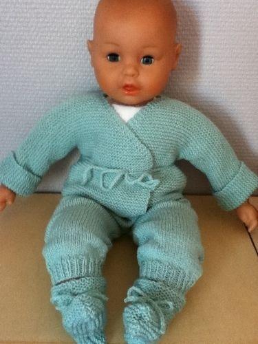 Makerist - ensemble bebe couleur glacier - Créations de tricot - 1