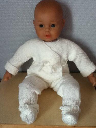 Makerist - ensemble bebe couleur ecru - Créations de tricot - 1