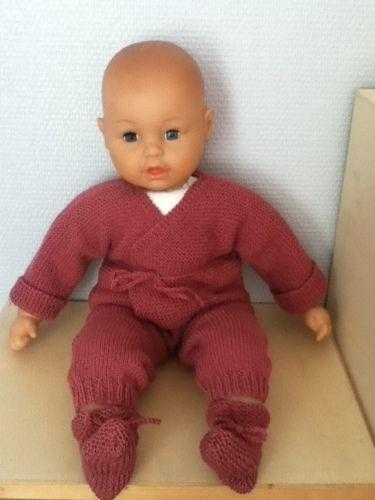 Makerist - ensemble bebe couleur pivoine - Créations de tricot - 1