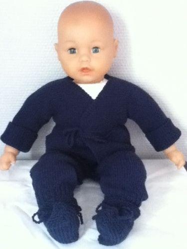 Makerist - ensemble bebe couleur bleu marine - Créations de tricot - 1