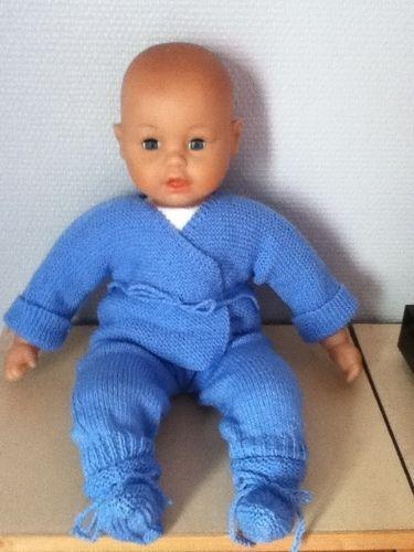 Makerist - ensemble bebe couleur bleuet - Créations de tricot - 1