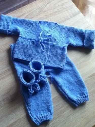 Makerist - ensemble bebe couleur bleuet - Créations de tricot - 2