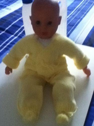 Makerist - ensemble bebe couleur paille - Créations de tricot - 1