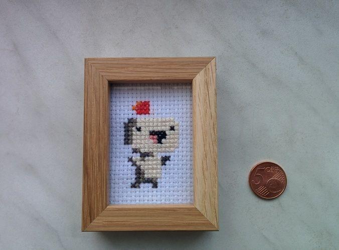 Makerist - Fez Pixel-Art gestickt - DIY-Projekte - 2