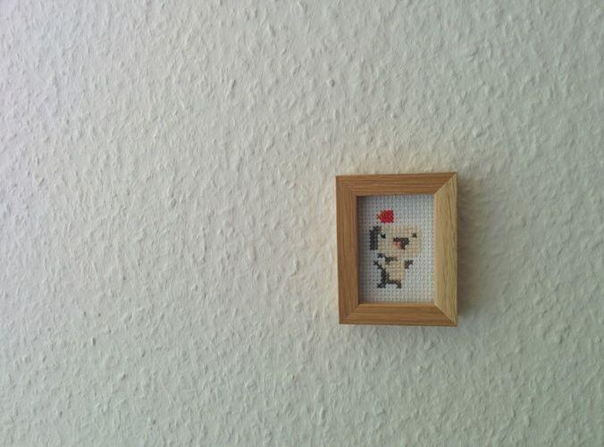 Makerist - Fez Pixel-Art gestickt - DIY-Projekte - 3