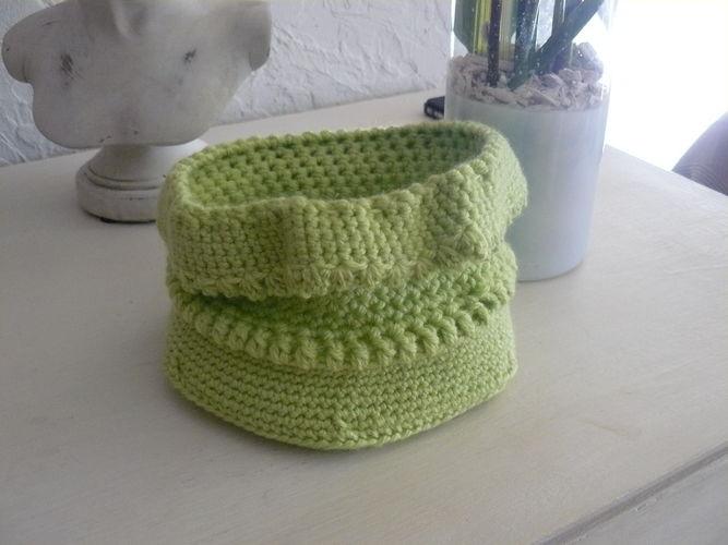 Makerist - le pochon vert anis - Créations de crochet - 1