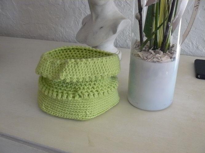 Makerist - le pochon vert anis - Créations de crochet - 2