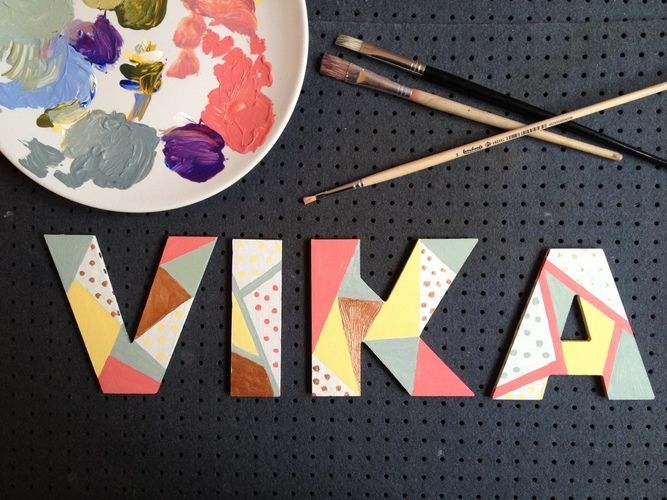 Makerist - Acrylfarben // Holzbuchstaben - DIY-Projekte - 3