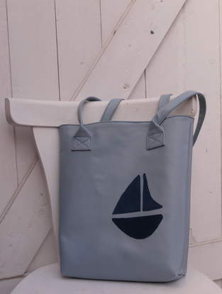 Makerist - Schultertasche * Segelboot * - 1