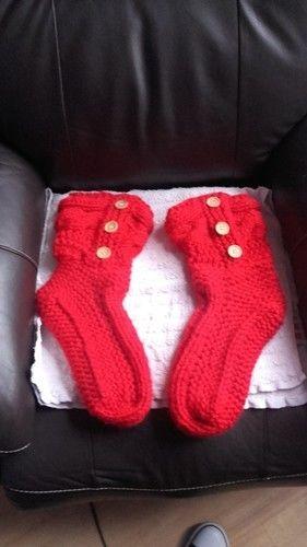 Makerist - chaussons d'intérieur en tricot - Créations de tricot - 1