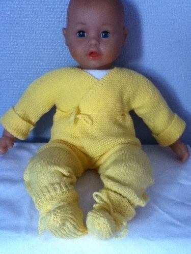 Makerist - ensemble bebe couleur poussin - Créations de tricot - 1