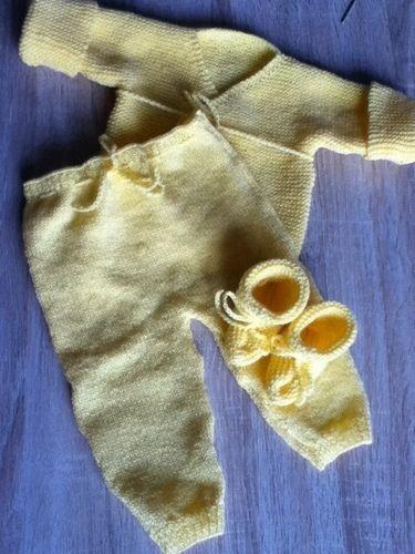 Makerist - ensemble bebe couleur poussin - Créations de tricot - 2