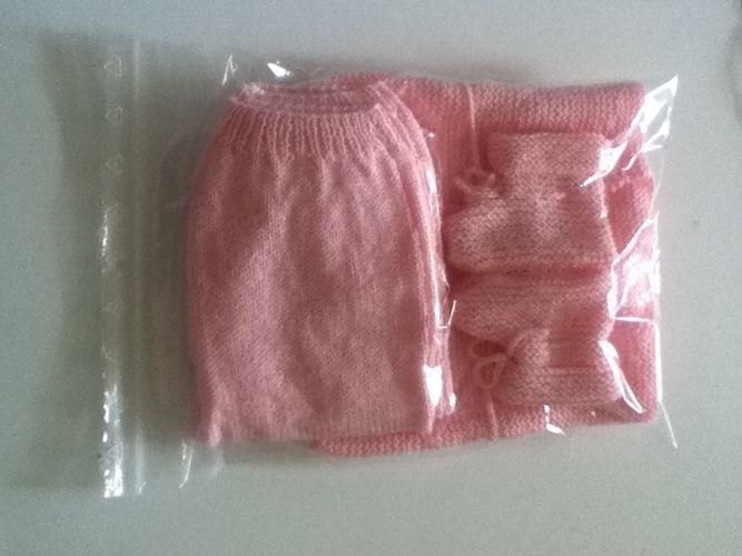 Makerist - ensemble bebe couleur petale - Créations de tricot - 3