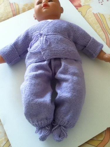 Makerist - ensemble bebe couleur lavande - Créations de tricot - 1