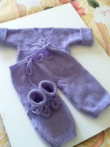 Makerist - ensemble bebe couleur lavande - Créations de tricot - 2