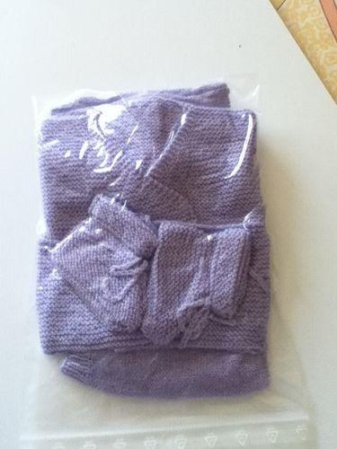 Makerist - ensemble bebe couleur lavande - Créations de tricot - 3