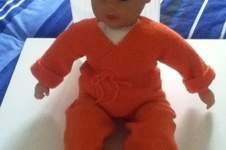 Makerist - ensemble bebe couleur orange - 1