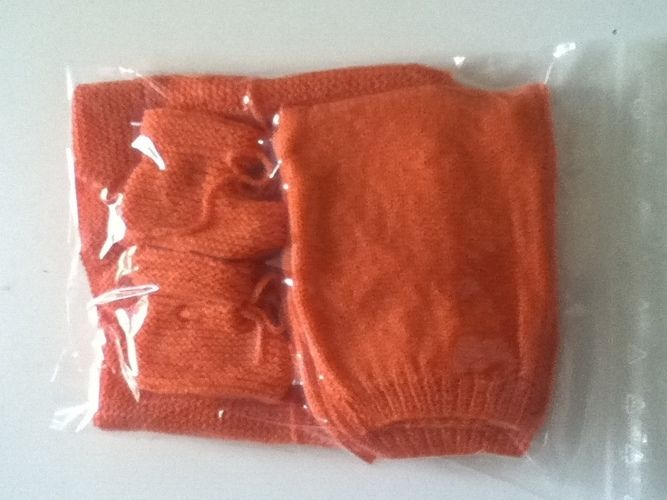 Makerist - ensemble bebe couleur orange - Créations de tricot - 3