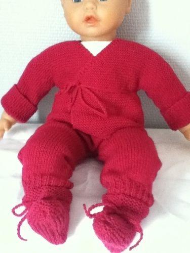 Makerist - ensemble bebe couleur mure - Créations de tricot - 1