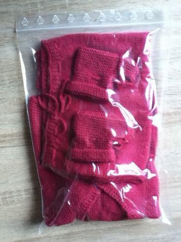Makerist - ensemble bebe couleur mure - Créations de tricot - 3