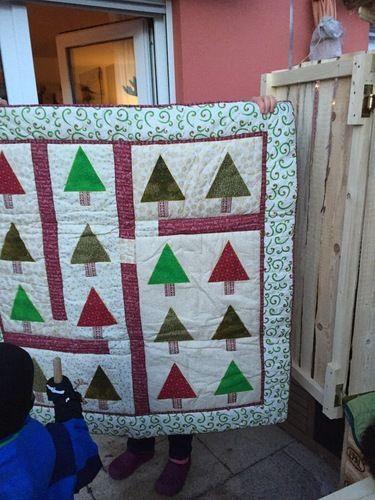 Makerist - Weihnachtsquilt - Patchwork-Projekte - 1