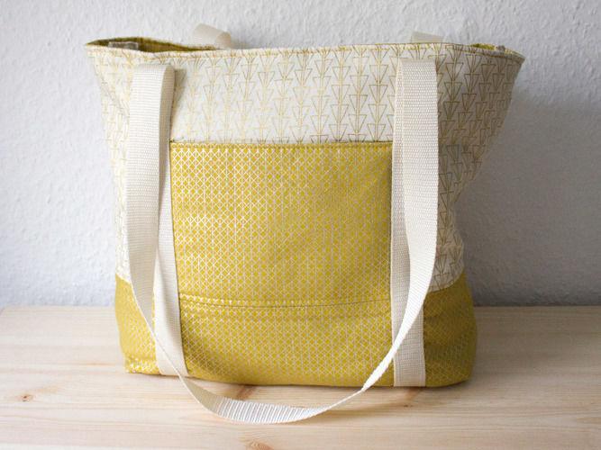 "Makerist - Meine goldene Handtasche ""Svea"" - Nähprojekte - 1"