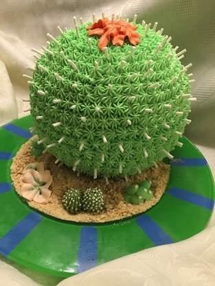 Buttercream Cactus Cake