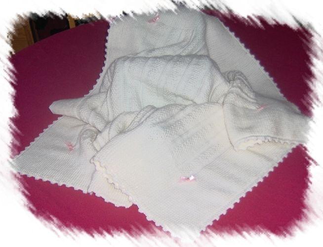 Makerist - Couverture de Baptême - Créations de tricot - 1