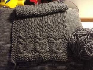Schal und Mütze Eulen mit Augen aus strasssteinen