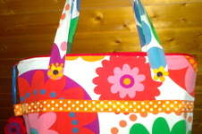 "Makerist - BasicBag ""Flowerpower"" - 1"