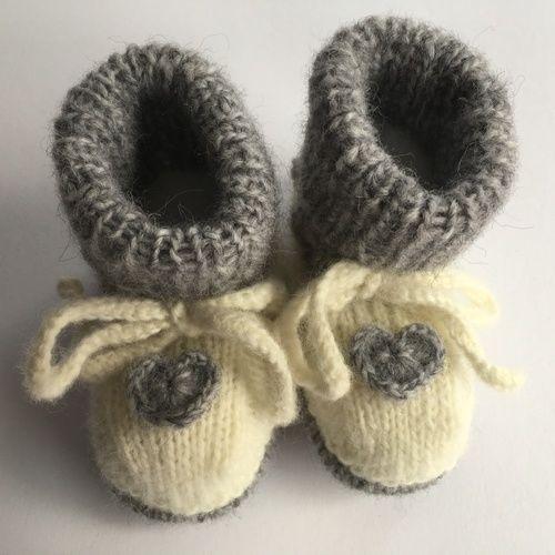 Makerist - Babyschuhe mit Herz - Strickprojekte - 1