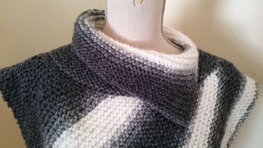 Makerist - Poncho asymétrique  - Créations de tricot - 2