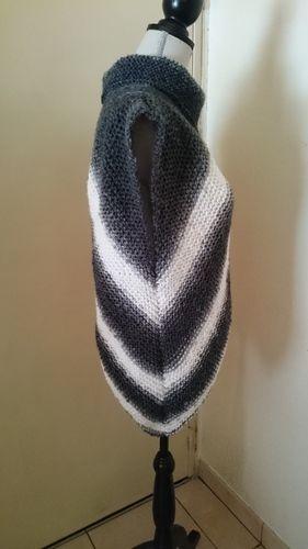 Makerist - Poncho asymétrique  - Créations de tricot - 3