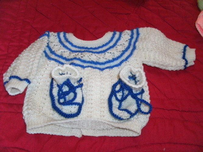 Makerist - brassières et chaussons, en laine, et pour les bébés  - Créations de tricot - 1